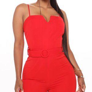 Fashion Nova Red Living Simple Jumpsuit